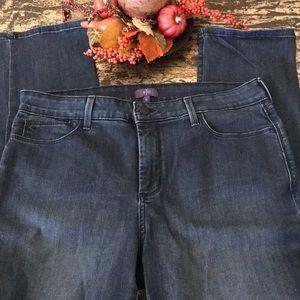 NYDJ Lift & Tuck Skinny Straight Leg Jeans Size 14